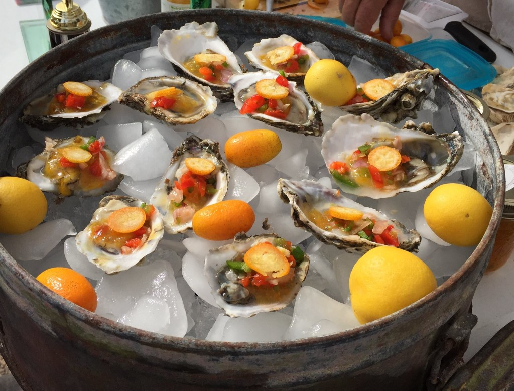 half shell oyster toppings