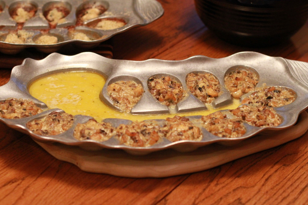 Oysters Bienville prepared on The Oyster Bed.