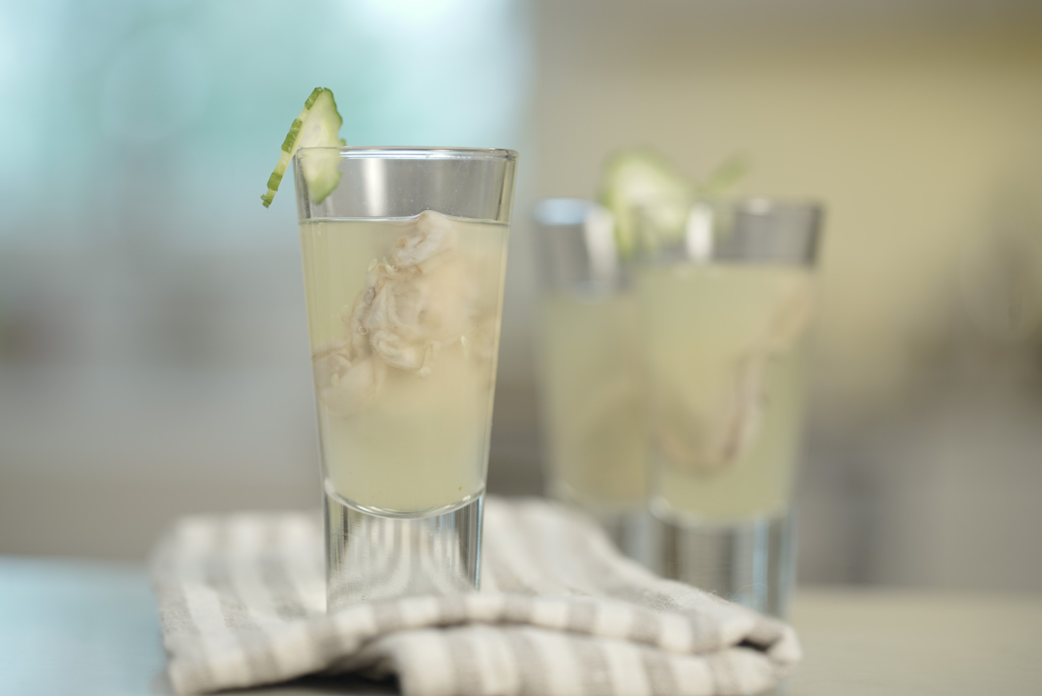 cucumber mint oyster shooters